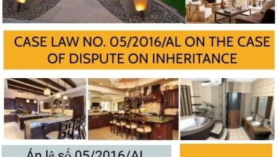 CASE LAW NO.05/2016/AL ON THE CASE OF DISPUTE ON INHERITANCE
