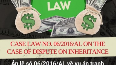 CASE LAW NO.06/2016/AL ON THE CASE OF DISPUTE ON INHERITANCE