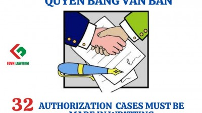 32 AUTHORIZATION  CASES MUST BE MADE IN WRITTING