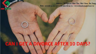 Can I get divorced after 10 days of the marriage?