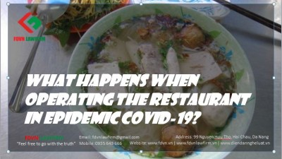 What happens when operating the restaurant in Epidemic COVID-19?