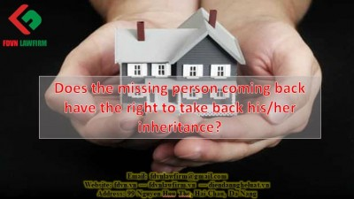 Does the missing person coming back have the right to take back his/her inheritance?