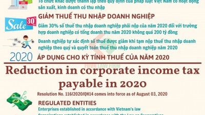 REDUCTION IN CORPORATE INCOME TAX PAYABLE IN 2020