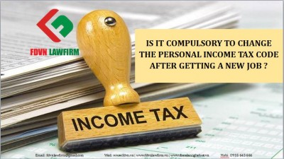 Is it compulsory to change the personal income tax code after getting a new job ?