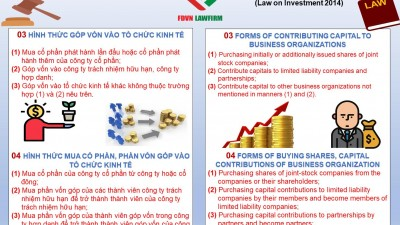 FORM OF CONTRIBUTING CAPITAL, BUYING SHARES, BUYING CAPITAL CONTRIBUTINS TO BUSINESS ORGANIZATIONS OF FOREIGN INVESTORS IN VIET NAM
