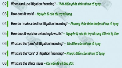 TEN THINGS: LITIGATION FINANCING – A PRIMER FOR IN-HOUSE COUNSEL