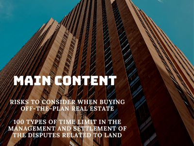 LEGAL NEWSLETTER NO.14 - 09/2020: RISKS TO CONSIDER WHEN BUYING OFF-THE-PLAN REAL ESTATE