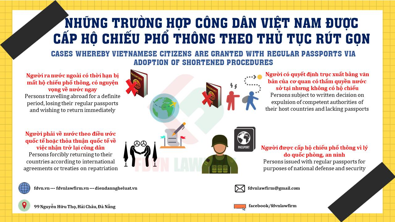 CASES WHEREBY VIETNAMESE CITIZENS ARE GRANTED WITH REGULAR PASSPORT VIA ADOPTION OF SHORTENED PROCEDURES